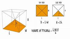 volume of a pyramid simple explanation