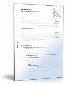 Kaufvertrag Gebrauchtes Edv System Muster Zum
