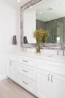 bathroom vanity and mirror ideas gorgeous custom vanity with crisp white cabinets and white quartz countertop notice the