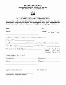 application form sherwood house