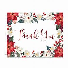 quot quot floral holiday thank you card digibuddha