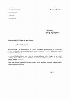 Lettre De Cl 244 Ture De Compte Bancaire Doc Pdf Page 1 Sur 1