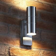auraglow dusk till dawn sensor stainless steel up down outdoor security light ebay