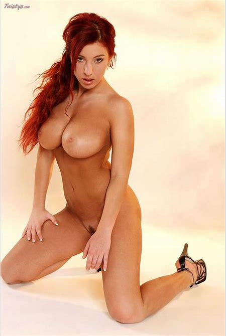 Ashley Robbins Busty Redhead in High Heels