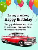 To My Cool Grandson  Happy Birthday Wishes Card