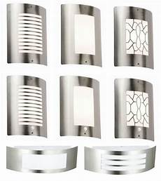 outdoor modern stainless steel curved wall light opal diffuser security lights ebay