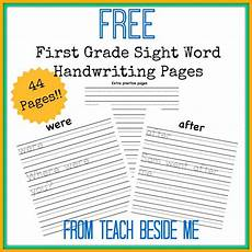 free first grade sight word handwriting pages free homeschool deals