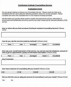 free 9 sle counselling evaluation forms in pdf ms word