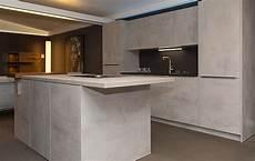 küche beton optik zeyko musterk 252 che elegante einbauk 252 che in beton optik