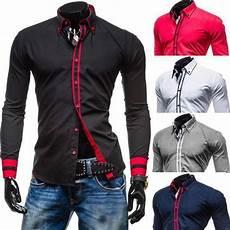 Chemise Homme Ajustee Slim Fit Fashion Lisere Colore