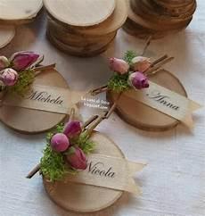 candele segnaposto per matrimonio segnaposto in legno personalizzabili con nome boccioli di