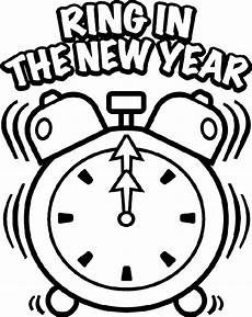 new year s clock coloring page crayola