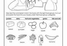 food groups worksheet grade 1 nutrition pinterest