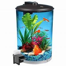 hawkeye 3 gallon 360 view aquarium kit with led lighting and filtration walmart com