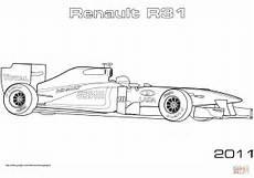 Malvorlagen Rennauto Formel 1 Ausmalbild Renault R31 Formel 1 Auto Ausmalbilder