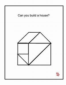 Tangram Kinder Malvorlagen Easy House Tangrams Printable Tangram Printable Math