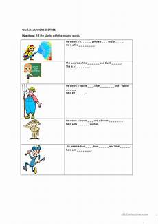work clothes and community helpers worksheet free esl printable worksheets made by teachers