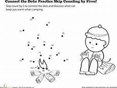 skip counting dot to dot worksheets 11902 connect the dots practice skip counting by fives worksheet education