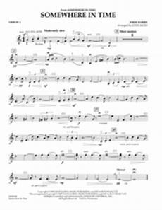 download somewhere in time violin 1 sheet music by barry sheet music plus