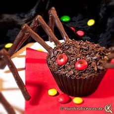 Muffins Gruselabend Idee Spinne Schoko