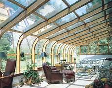 sunroom windows curved glass roof sunroom or solarium with wood interior