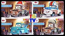 disney pixar cars tow mater all paint races youtube