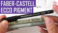 faber castell ecco pigment review and demo