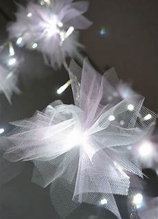tulle wrapped fairy lights i think i m in heaven flower fairy lights tulle crafts fairy lights