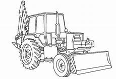 awesome excavator in digger coloring page color