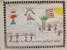 gray school students illustrate the preamble