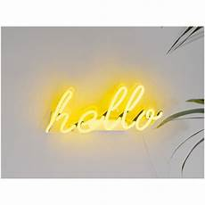 hello neon wall light yellow iwoot