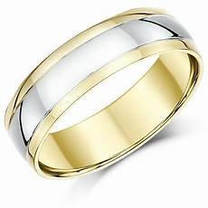 18ct wedding ring two colour gold court shape multi tone ring 4mm 5mm 6mm band ebay