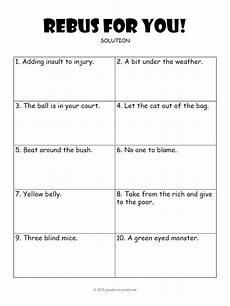 rebus worksheet 3