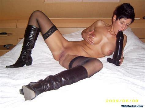 Wife Big Black Dildo