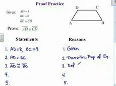 geometry proofs worksheets two column 921 proof practice 1