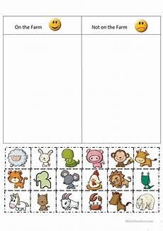 sorting worksheet for kindergarten 7907 farm sort worksheet free esl printable worksheets made by teachers farm animals preschool
