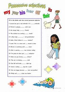 possessive adjectives english esl worksheets for distance learning and physical classrooms