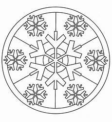 Ausmalbild Schneeflocken Mandala Mandala Winter Schneeflocken Ausmalbild Kostenlos