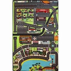 tapis enfant circuit de voitures dans la ville 130 x