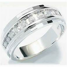 mens white gold wedding rings with diamonds 1 4ct mens wedding anniversary diamonds ring band 10k white gold chennel set ebay