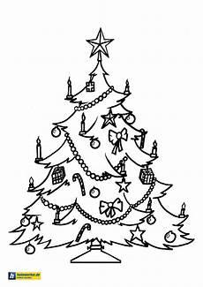 Ausmalbild Weihnachtsbaum Malvorlagen Weihnachten Und Advent Kostenlose