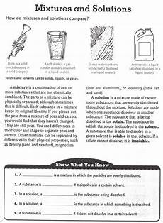 physical science elementary worksheets 13072 another isn physical science site matter science chemistry worksheets solutions mixtures