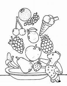 Ausmalbilder Obst Mit Gesicht Kostenlose Malvorlage Obst Und Gem 252 Se Obstsalat Zum Ausmalen