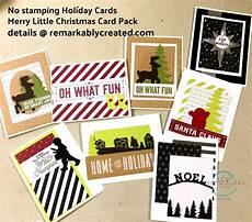 no sting required to make cute holiday cards with merry little christmas memories more