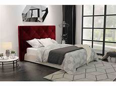 t 234 te de lit en velours 165 cm scarlet coloris