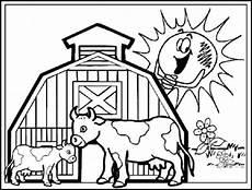 Ausmalbilder Bauernhof Mit Tieren Tiere Auf Dem Bauernhof Malvorlagen