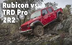 2020 jeep gladiator vs toyota tacoma 2020 jeep gladiator rubicon vs chevy colorado zr2 vs