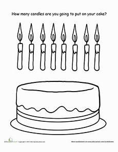 birthday cake printable worksheets 20255 how many candles worksheet education
