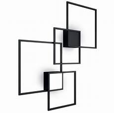 contemporary wall light square pmma aluminum venn by