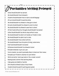 persuasive writing prompts worksheets